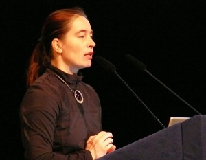 Barbara Imhof speaking at IAC (c) Ondrej Doule