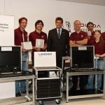 Gruppenfoto mit P. Buhmann von Lancom Systems (c) ÖWF (Daniela Humml)
