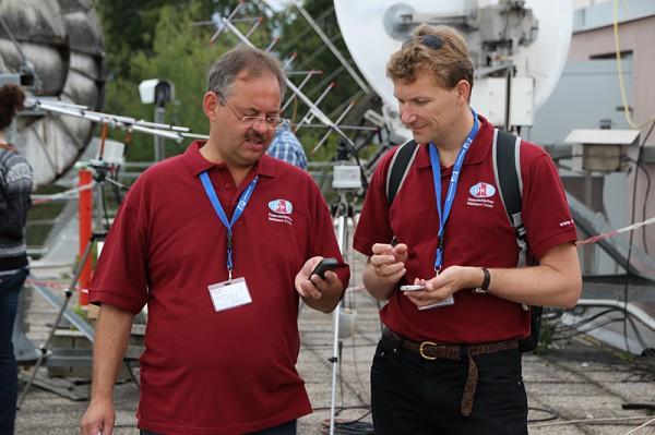 08 - M. Taraba + N. Frischauf kurz vor dem Passepartout Launch