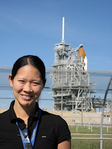 Jennifer Ngo-Anh at Kennedy Space Center