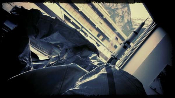 Aussicht vom Labor inkl. äußere Hülle für die Aouda.S
