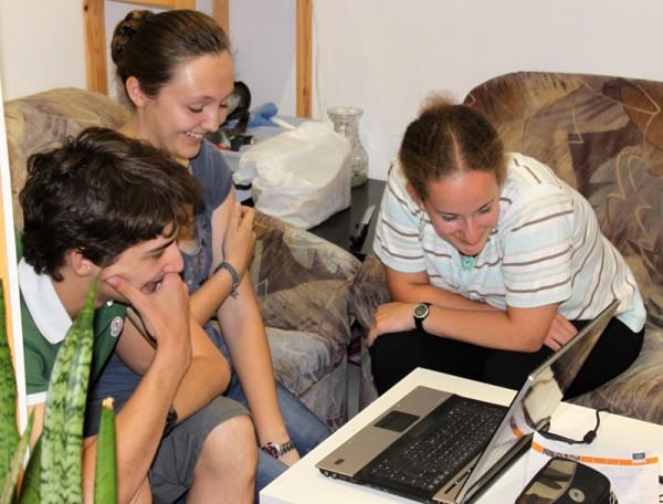 Unicamp 2012 Teilnehmer in reger Diskussion