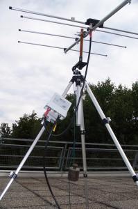 Fertig montierte Yagi Antenne