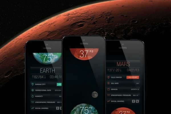 SOL App - Interplanetary Wetterapp