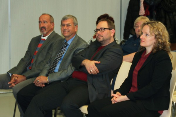 v.re: Eva Hauth, Stefan Hauth, Weltraumschneider Rudolf Hujber (c) ÖWF (Hilde Hauth)