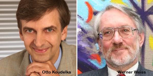 Otto Koudelka (links) & Werner Weiss (rechts) Polarsternpreisträger 2014